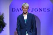 Anwar Hadid showcases designs from International Menswear during the media rehearsal ahead of the David Jones Spring Summer 18 Collections Launch at Fox Studios on August 8, 2018 in Sydney, Australia.