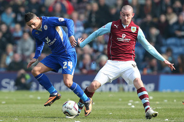 David Jones Burnley v Leicester City - Sky Bet Championship