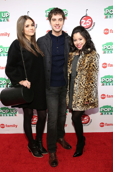 "ABC's ""25 Days Of Christmas"" Celebration [25 days of christmas,carpet,event,tights,premiere,flooring,outerwear,red carpet,fur,actors,cierra ramirez,david lambert,maia mitchell,cucina,new york city,rockerfellar center,abc,celebration]"