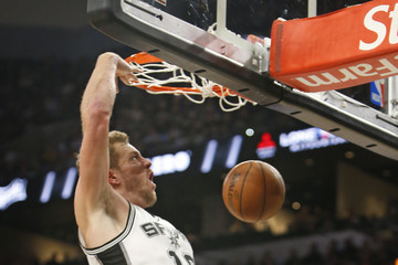 David Lee Oklahoma City Thunder v San Antonio Spurs