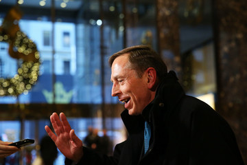 David Petraeus President-Elect Trump Holds Meetings At Trump Tower In New York
