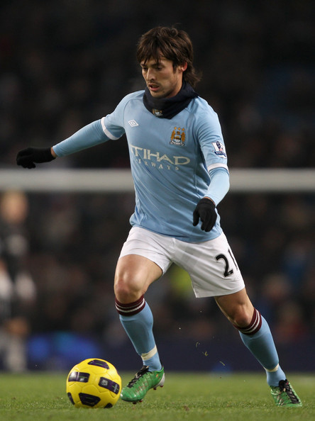 David Silva David Silva of Manchester City in action during the Barclays Premier League match between Manchester City and Everton at City of Manchester Stadium on December 20, 2010 in Manchester, England.