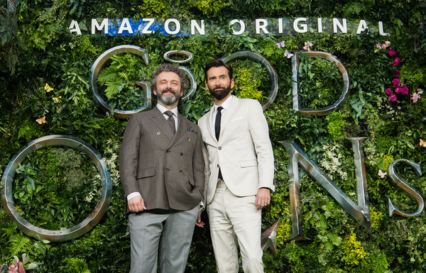 Entertainment  Pictures of the Month - May 2019 [entertainment pictures of the month,botany,bicycle wheel,vehicle,bicycle,photography,bicycle tire,recreation,plant,bicycle part,garden,michael sheen,david tennant,amazon original ``good omens,england,london,odeon luxe leicester square,l,premiere]