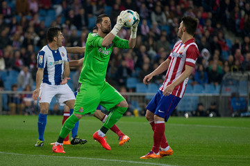 David Villa Francisco Casilla Club Atletico de Madrid and RCD Espanyol - La Liga