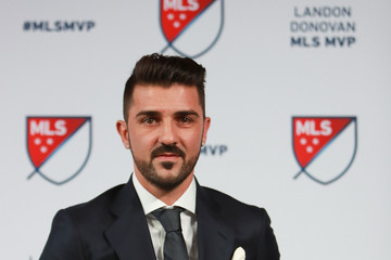 David Villa Commissioner Don Garber Announces 2016 MLS MVP Award