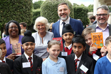 David Walliams The Duchess of Cornwall Hosts a Tea Party to Celebrate the Duchess's Bookshelves Project