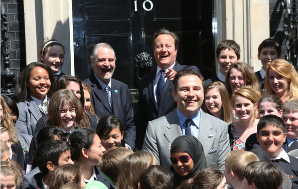 Enough Food For Everyone Photo Call [everyone,david cameron,david walliams,school children,food,photocall,end,people,social group,crowd,event,community,youth,team,fun,smile,student,big if london,england,10 downing street]