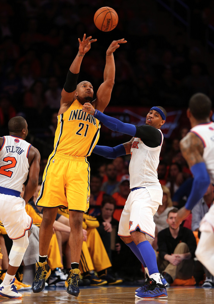 David+West+Indiana+Pacers+v+New+York+Kni