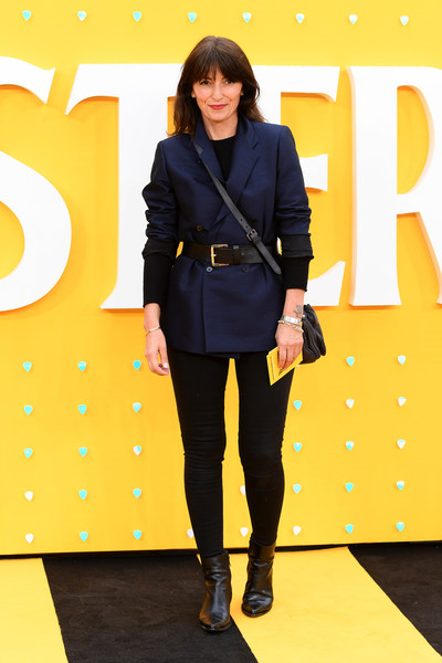 'Yesterday' UK Premiere - Red Carpet Arrivals [clothing,fashion model,fashion,yellow,outerwear,footwear,blazer,jacket,leggings,joint,red carpet arrivals,davina mccall,uk,england,london,odeon luxe leicester square,premiere]