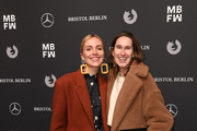 Annette Weber and guest attends the Dawid Tomaszewski show during the MBFW Berlin January 2018 at ewerk on January 15, 2018 in Berlin, Germany.