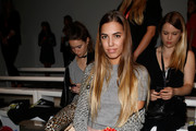 Amber Le Bon attends the Holly Fulton show during London Fashion Week Spring Summer 2015 at Somerset House on September 13, 2014 in London, England.