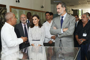 King Felipe VI of Spain and Queen Letizia of Spain visit the Molecular Immunology Center on November 14, 2019 in La Havana, Cuba. King Felipe VI of Spain and Queen Letizia of Spain are visiting Cuba for the first time during three days.