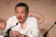 """Director Hong Sang Soo attends the """"The Day After (Geu Hu)"""" press conference during the 70th annual Cannes Film Festival on May 22, 2017 in Cannes, France."""
