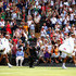 Roger Federer of Switzerland and Rafael Nadal of Spain walk onto centre court prior to their Men's Singles semi-final match during Day eleven of The Championships - Wimbledon 2019 at All England Lawn Tennis and Croquet Club on July 12, 2019 in London, England. - 3 of 157