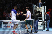 Roger Federer and Marin Cilic Photos Photo