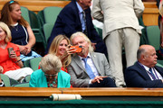Entrepreneur Richard Branson and his daughter Holly attend the Royal Box during Day Ten of The Championships - Wimbledon 2019 at All England Lawn Tennis and Croquet Club on July 11, 2019 in London, England.