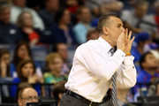 Head coach Billy Donovan of the Florida Gators calls a play against the UCLA Bruins during a regional semifinal of the 2014 NCAA Men's Basketball Tournament at the FedExForum on March 27, 2014 in Memphis, Tennessee.