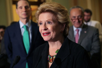 Debbie Stabenow Senate Legislators Address the Media After Their Weekly Party Luncheons