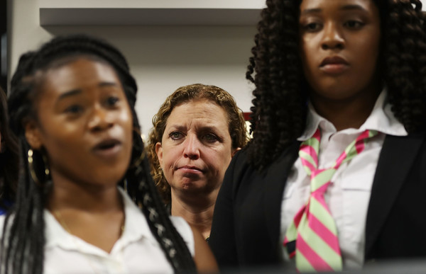 Debbie Wasserman Schultz Holds Gun Safety Discussion With Students And FL Mayors