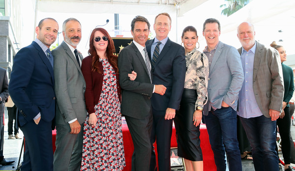 Eric McCormack Honored With Star On The Hollywood Walk Of Fame [eric mccormack honored with star on the hollywood walk of fame,social group,event,management,businessperson,suit,white-collar worker,employment,eric mccormack,max mutchnick,robert greenblatt,debra messing,david kohan,megan mullally,sean hayes,l-r,hollywood walk of fame]
