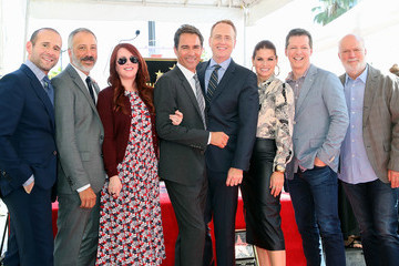 Debra Messing Megan Mullally Eric McCormack Honored With Star On The Hollywood Walk Of Fame