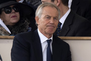 Former British Prime Minister Tony Blair attends a Service of Commemoration and Drumhead Service on Horse Guards Parade in central London on March 9, 2017, which honours the service and duty of both the UK Armed Forces and civilians in the Gulf region, Iraq and Afghanistan, and those who supported them back home, from 1990-2015..After the Drumhead Service, The Queen will officially unveil The Iraq and Afghanistan memorial. / AFP PHOTO / Justin TALLIS