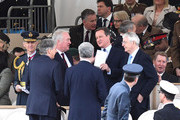 Phillip Hammond, Michael Fallon, David Cameron and John Major attend the dedication service of The Iraq and Afghanistan memorial at Horse Guards Parade on March 9, 2017 in London, England.