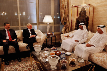 Mohammed bin Zayed bin Sultan Al Nahyan Defense Secretary Robert Gates Travels To Mideast