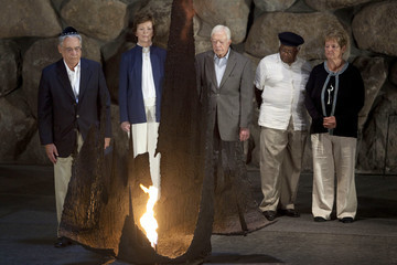 Jimmy Carter Mary Robinson A Delegation Of Former Statesmen On A 3 Day Visit to Israel and Westbank