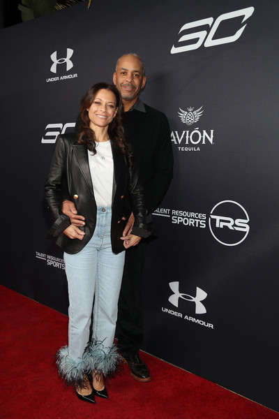 Tequila Avion hosts NBA All-Star After Party Presented by Talent Resources [red carpet,carpet,premiere,event,fashion,suit,flooring,footwear,outerwear,formal wear,dell curry,sonya curry,tequila avion,talent resources,l-r,beverly hills,california,nba all-star after party]