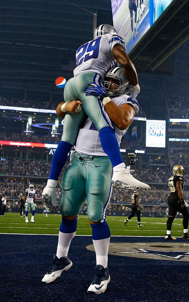 Demarco Murray and Travis Frederick - New Orleans Saints v Dallas Cowboys