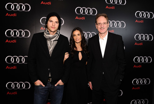 Demi Moore (L-R) Actor Ashton Kutcher, actress Demi Moore and President,