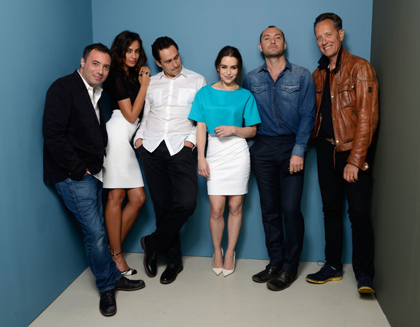 'Dom Hemingway' Portraits in Toronto [dom hemingway portraits,social group,event,team,white-collar worker,employment,businessperson,management,company,family,richard shepard,emilia clarke,jude law,demian bichir,madalina ghenea,richard e. grant,l-r,toronto,2013 toronto international film festival]