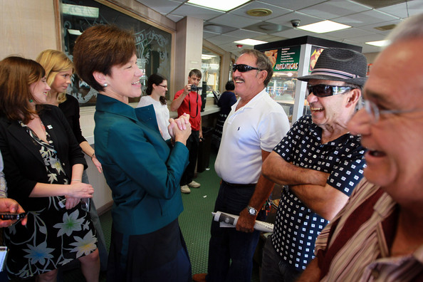 Democratic Gubernatorial Candidate Alex Sink Campaigns In Miami