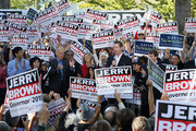 Gavin Newsom and Jerry Brown Photos Photo