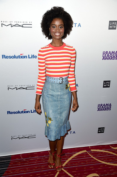 83rd Annual Drama League Awards Ceremony and Luncheon [clothing,pencil skirt,shoulder,fashion,fashion model,dress,waist,cocktail dress,hairstyle,fashion design,denee benton,luncheon,new york city,luncheonat marriott marquis times square,annual drama league awards ceremony]