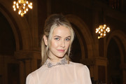 Actress Olivia Jordan attends the Dennis Basso fashion show at St. Bartholomew's Church on February 12, 2018 in New York City.