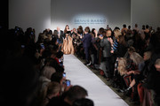 Designer Dennis Basso and Carol Alt walk the runway at the Dennis Basso show during New York Fashion Week: The Shows at Cipriani 42nd Street on February 11, 2019 in New York City.