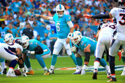 Jay Cutler #6 of the Miami Dolphins during the first quarter against the Denver Broncos at the Hard Rock Stadium on December 3, 2017 in Miami Gardens, Florida.