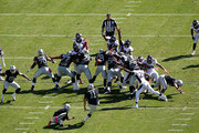 Sebastian Janikowski #11 of the Oakland Raiders attempts a field goal in the first quarter against the Denver Broncos at O.co Coliseum on October 11, 2015 in Oakland, California.