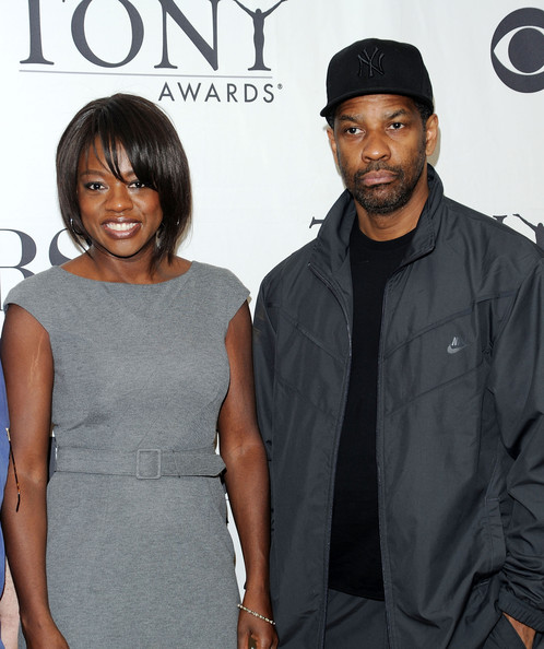 Viola Davis and Denzel Washington - 2010 Tony Awards Meet The Nominees Press ...