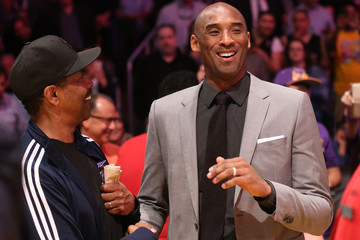Denzel Washington New York Knicks v Los Angeles Lakers