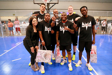 Deon Taylor Michael Blackson 2019 BET Experience - Celebrity Dodgeball Game