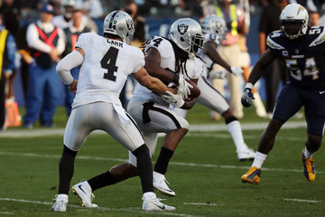 Derek Carr Oakland Raiders v Los Angeles Chargers