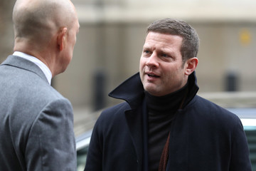 Dermot O'Leary Celebrities & Front Row - Day 1 - LFW Men's January 2017