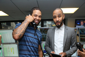 Deron Williams Annual Charity Day Hosted By Cantor Fitzgerald And BGC - Cantor Fitzgerald Office - Inside