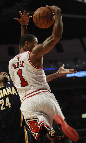 4dce83cbc64 Derrick Rose and Paul George Photos»Photostream · Pictures · Indiana Pacers  v Chicago Bulls - Game Two