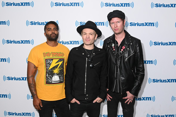 Celebrities Visit SiriusXM - May 28, 2019 [event,technology,electronic device,premiere,celebrities,jason mccaslin,deryck whibley,dave baksh,new york city,siriusxm,sum 41,siriusxm studios,visit]