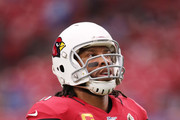 Wide receiver Larry Fitzgerald #11 of the Arizona Cardinals warms up prior to their game against the Detroit Lions at State Farm Stadium on September 08, 2019 in Glendale, Arizona.