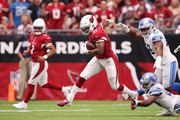 Running back David Johnson #31 of the Arizona Cardinals carries the ball against the Detroit Lions in the first quarter of the game at State Farm Stadium on September 08, 2019 in Glendale, Arizona.